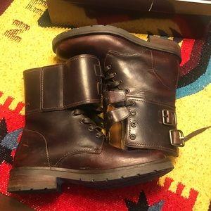 Men's Coach leather boots 8.5
